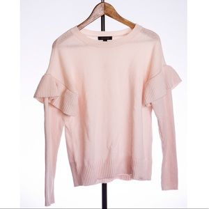 Blush Ruffled Sweater (NEW!!! tags still attached)